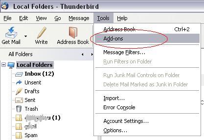 Corector ortografic pentru Thunderbird