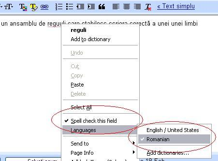 Selecție limbă